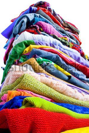Renkli elbise farklı renkler Stok fotoğraf © IngaNielsen