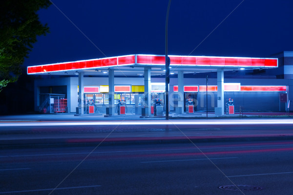 Petrol station Stock photo © IngaNielsen