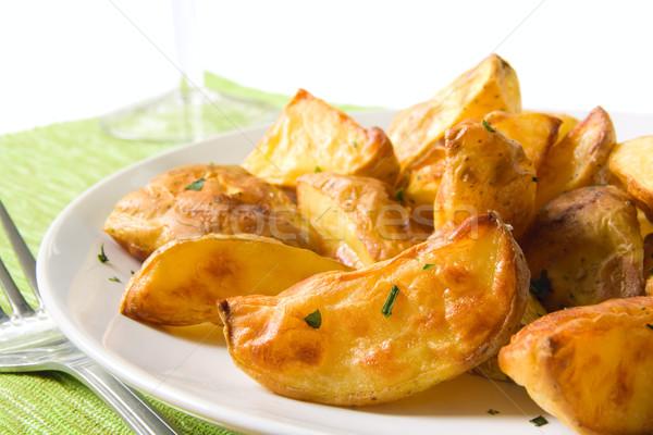 Stock fotó: Krumpli · ízletes · házi · készítésű · edény · sültkrumpli · senki
