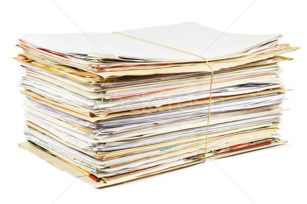 Waste paper isolated Stock photo © IngaNielsen
