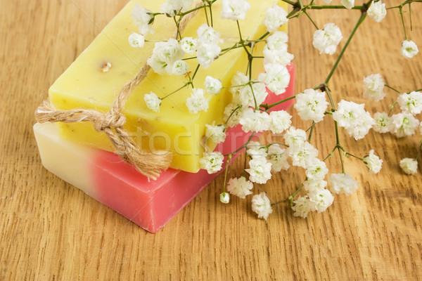 Natuurlijke aroma handgemaakt zeep bars Stockfoto © IngridsI