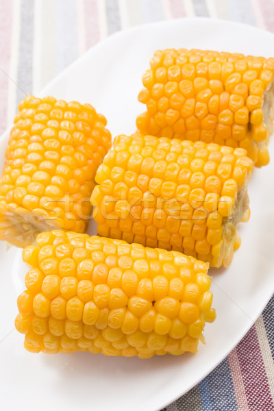 Cobs of sweet corn Stock photo © IngridsI