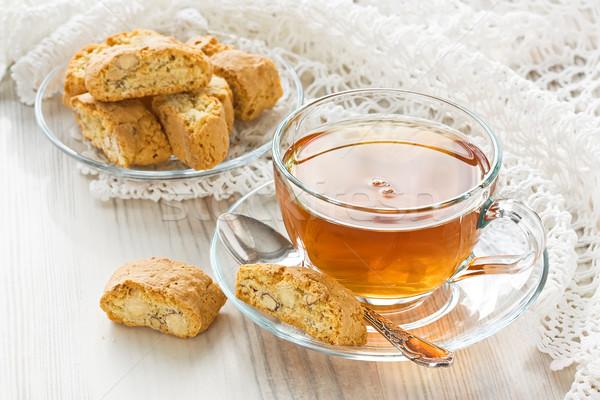 Beker thee transparant kruidenthee eigengemaakt voedsel Stockfoto © IngridsI