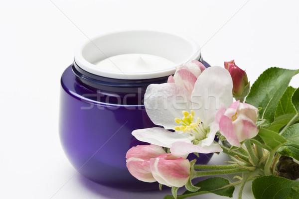 Kozmetikai arc bőr krém hidratáló virág Stock fotó © IngridsI
