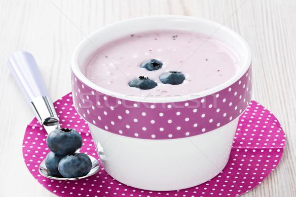 Yoghurt vers eigengemaakt gezonde ontbijt Stockfoto © IngridsI