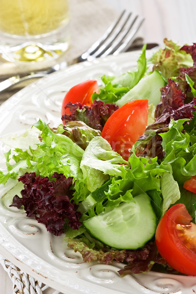 Salade vers groene Rood sla tomaat Stockfoto © IngridsI