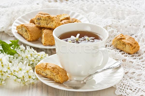 Csésze teáscsésze gyógynövény tea házi készítésű étel tea Stock fotó © IngridsI