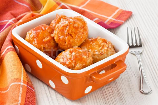 Meatballs with tomato sauce Stock photo © IngridsI