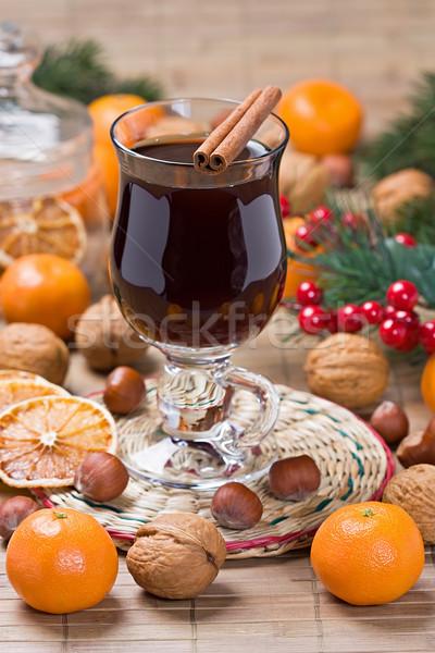 Сток-фото: вино · зима · горячий · напиток · корицей · сушат · оранжевый