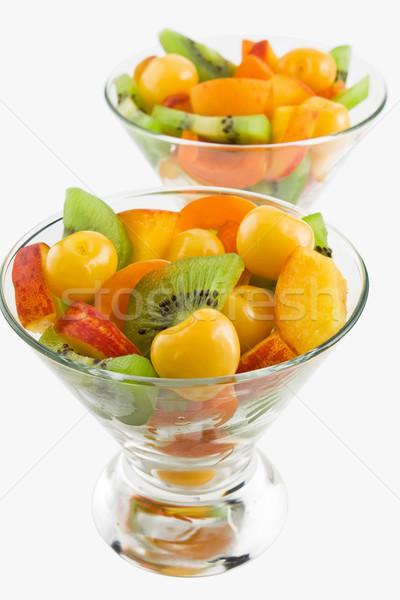 Vruchtensalade heerlijk verschillend salade Stockfoto © IngridsI