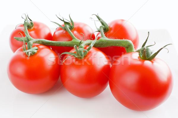 Tak tomaat rijp vers tomaten Stockfoto © IngridsI