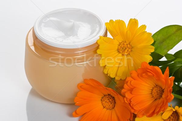 Cosmetische lichaam room jar Stockfoto © IngridsI