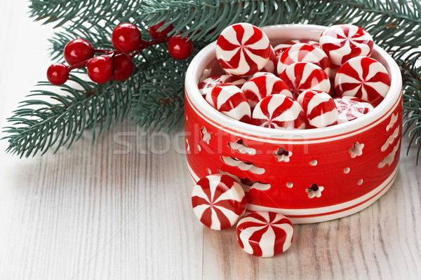 Foto stock: Hortelã-pimenta · natal · doce · doce · decoração