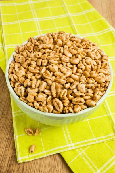 Sweet popped wheat grains Stock photo © IngridsI