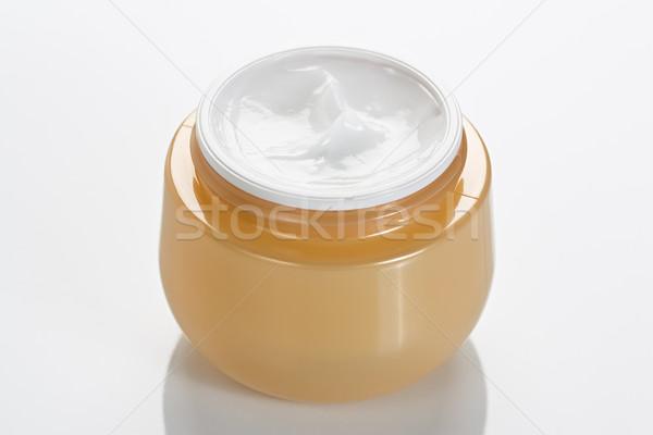 Cosmetische lichaam room jar witte Stockfoto © IngridsI