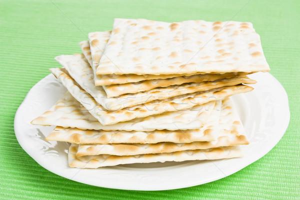 Pane piatto texture grano bianco Foto d'archivio © IngridsI