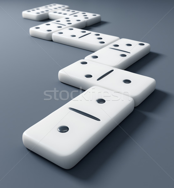 Beyaz domino yılan oynamak oyun inşa etmek Stok fotoğraf © inoj