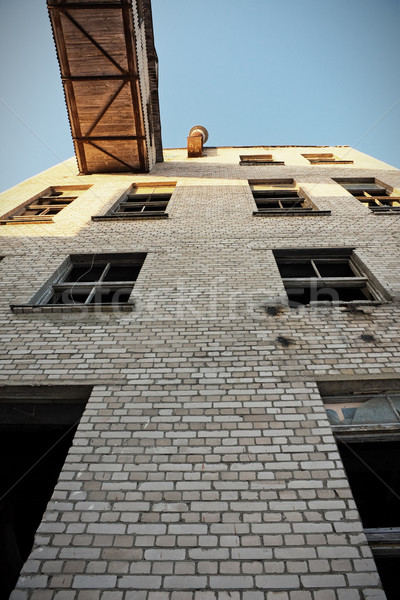 Exterior of old industrial building Stock photo © inoj