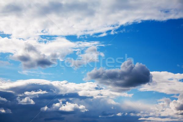 Gökyüzü bulutlar soyut uzay mavi renk Stok fotoğraf © inoj