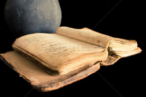 古代 祈り 図書 黒 ライブラリ 祈る ストックフォト © inoj