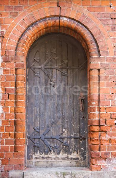 старые Церкви двери древесины строительство замок Сток-фото © inoj
