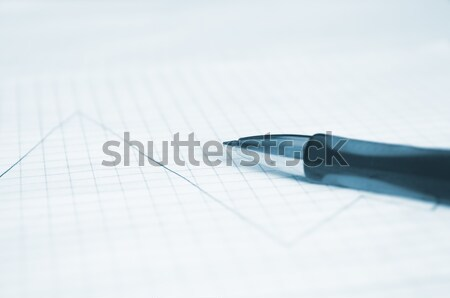 ペン 金融 グラフ ビジネス モニター 青 ストックフォト © inoj