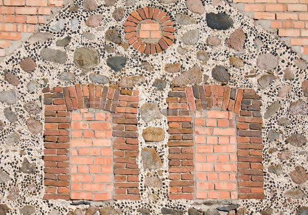 窓 壁 レンガ 建物 背景 ウィンドウ ストックフォト © inoj