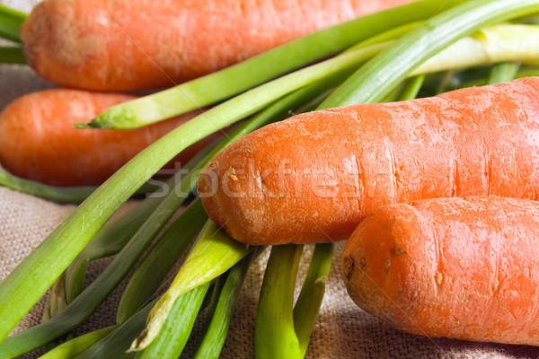 Сток-фото: морковь · весны · лука · фон · оранжевый · фермы