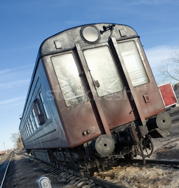 öreg vagon nap technológia háttér piros Stock fotó © inoj