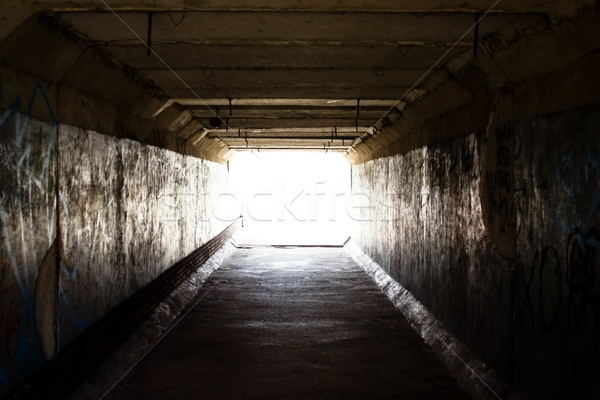 ışık son tünel kentsel karanlık gelecek Stok fotoğraf © inoj