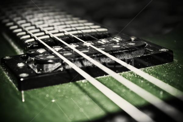 Eski yeşil gitar müzik güzellik elektrik Stok fotoğraf © inoj