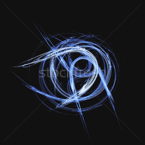 Hatları siyah teknoloji uzay renk duvar kağıdı Stok fotoğraf © inoj