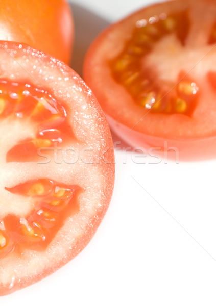 Kırmızı domates beyaz gıda meyve bahçe Stok fotoğraf © inoj