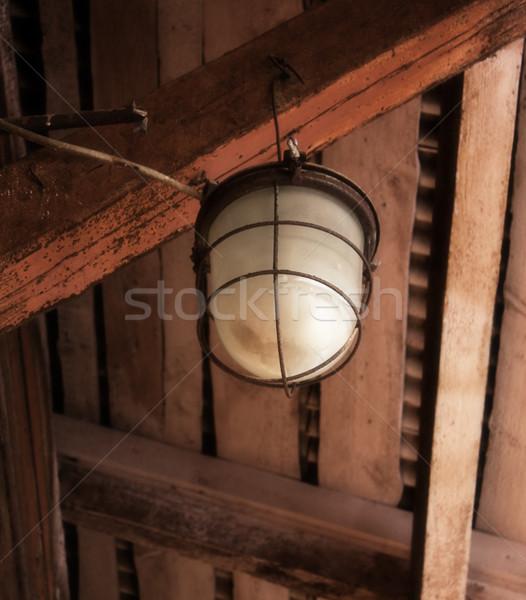 古い 産業 ランタン 市 光 クロス ストックフォト © inoj