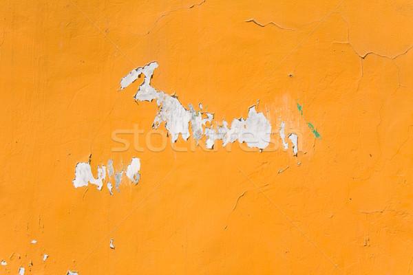 Сток-фото: старые · оранжевый · окрашенный · стены · текстуры · свет