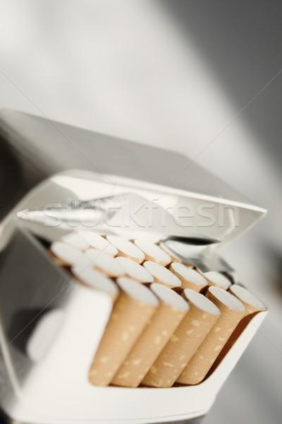 Sigara sağlık kutu ilaçlar makro boş Stok fotoğraf © inoj
