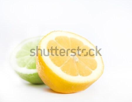 レモン 石灰 食品 背景 オレンジ 食べ ストックフォト © inoj