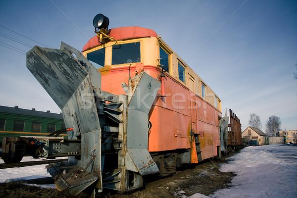 Locomotiva panorama treno corporate nero acciaio Foto d'archivio © inoj