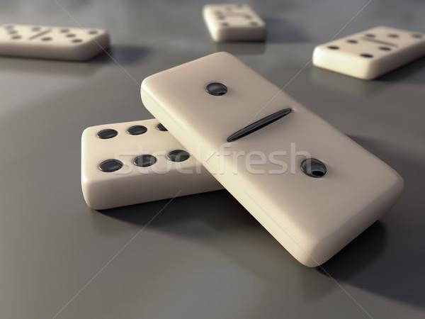 Domino змеи играть игры построить плитки Сток-фото © inoj