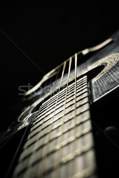 Black acoustic guitar  Stock photo © inoj