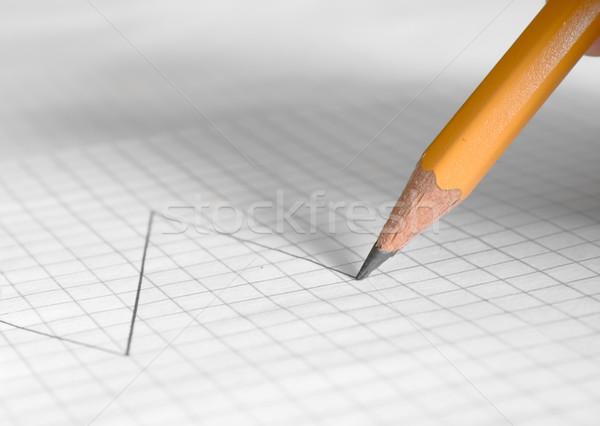 鉛筆 図面 金融 グラフ 背景 グラフ ストックフォト © inoj