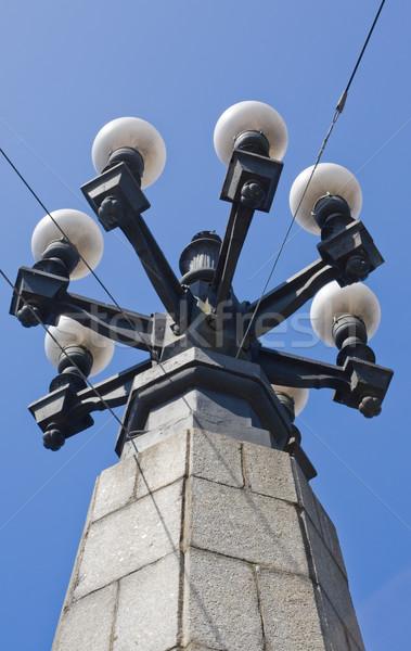 Vintage небе город дизайна металл Сток-фото © inoj