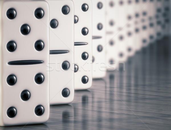 Fehér dominó kígyó játék játék épít Stock fotó © inoj