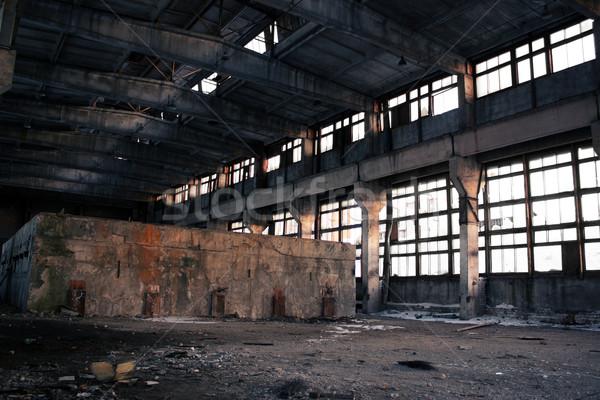 Elhagyatott ipari belső építkezés festék háttér Stock fotó © inoj