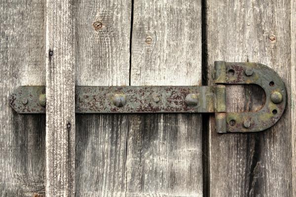 古い ドア ループ 壁 ホーム 背景 ストックフォト © inoj