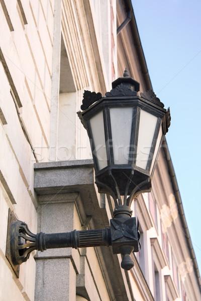 öreg utca lámpás város fal fém Stock fotó © inoj