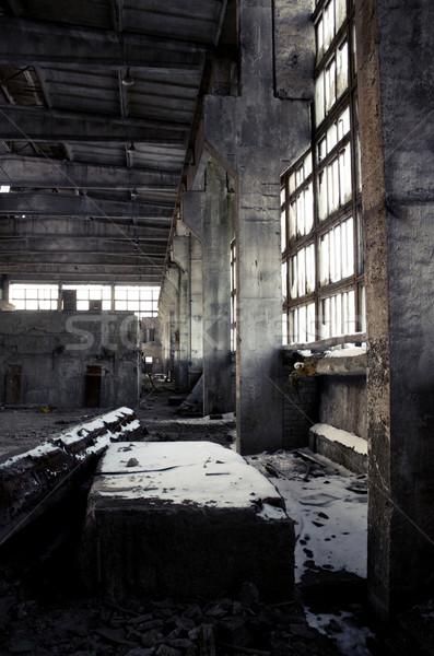 捨てられた 産業 インテリア 建設 塗料 背景 ストックフォト © inoj