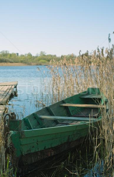 Yeşil tekne su doğa göl nehir Stok fotoğraf © inoj
