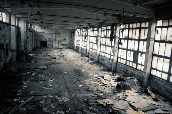 Stock photo: Abandoned Industrial interior