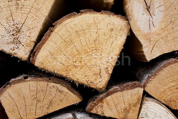 Tűzifa boglya textúra fa háttér élet Stock fotó © inoj